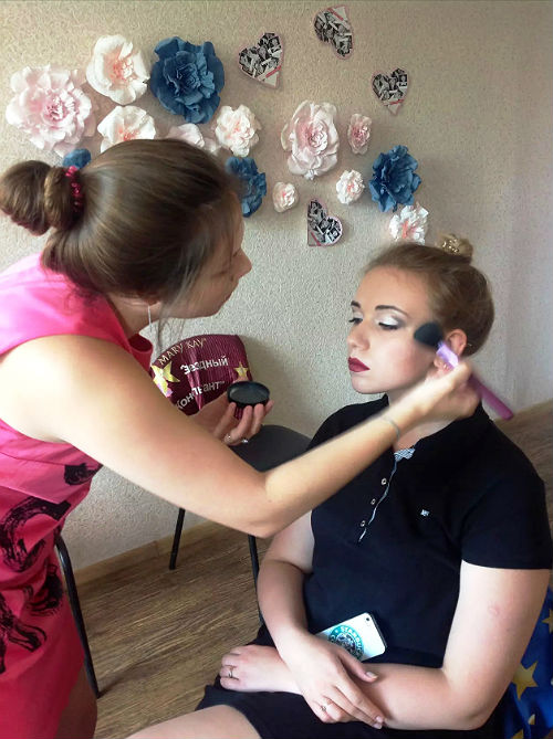Отработка вечернего макияжа