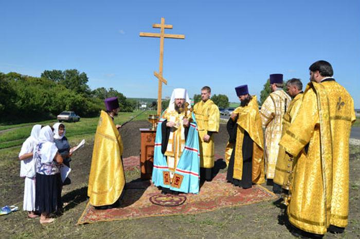 возведен-деревянный-крест-Каменка-Пензенская-область