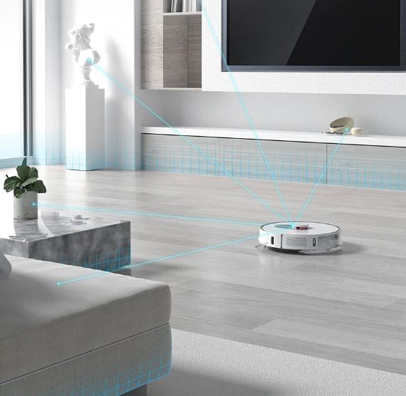 Робот-пылесос использует LDS-лидар четвертого поколения