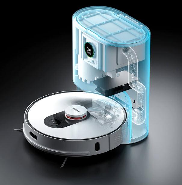 робот автоматически опорожняет пылесборник